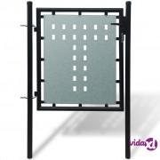 vidaXL Crna Vrata za Ogradu 100 x 150 cm