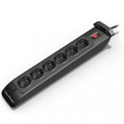 Разклонител CyberPower SB0601BA, 6 гнезда, On/Off бутон, 1.8м, черен