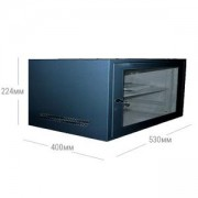 Сървърен рак 4U 530x400, SPCC Студена валцована стомана, Черен, JZ-VC6404