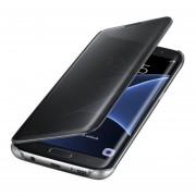 Clamshell Carcasa Protectora Espejo Funda Protección Del Sueño Para Samsung Galaxy J1/J2/J3/J5/J5Prime/J7/J7Prime-Negro