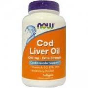 Масло от дроб на Треска - Cold Liver Oil - 100 дражета - NOW FOODS, NF1743