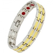 The Jewelbox Italian 316L Surgical Stainless Steel 18K Gold Rhodium Plated Bracelet For Boys Men