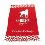 CA-RIO-CA Logo Cangas De Praia Sarong Pareo Brazilian Beach Towel Red CRC-C102004