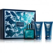Versace Eros coffret VI. Eau de Toilette 50 ml + bálsamo after shave 50 ml + gel de duche 50 ml