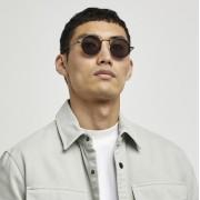 river island Mens Black round frame sunglasses (One Size)