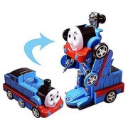 Robot Train Toy for Kids - Converting Train to Robot Transformer for Kids Train Engine with LED Lights.