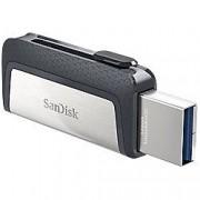 SanDisk USB 3.1 Flash Drive Ultra Dual 32 GB Black, Silver