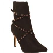 Msc Women Black Synthetic Boots