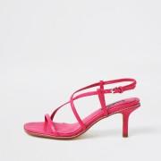 river island Womens Pink studded skinny low heels (5)