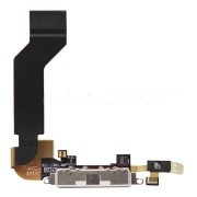 iPhone 4S Laddningsport Flexkabel med Mic (Svart)