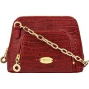 Hidesign Women Red Genuine Leather Sling Bag