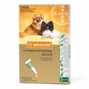 Advocate Spot On 40 For Small Dogs/Pups 4 Kg or Less 3 Doses