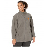 Columbia College Plus Size Tennessee Volunteers CLG Give and Gotrade II Full Zip Fleece Jacket Charcoal