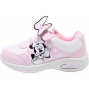 Pantofi sport cu luminite Minnie Mouse model 5129 alb/roz 24-32 EU