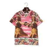 N°21プリント クルーネック 半袖Tシャツ ピンク xxs ファッション > メンズウエア~~その他トップス