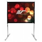 RESIGILAT Ecran de proiectie de podea EliteScreens QuickStand Q84V, marime vizibila 170.2 cm x 127 cm, Format 4:3