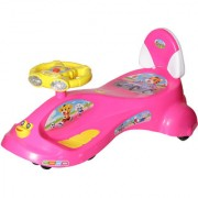NHR Kids Deluxe Free Wheel Magic swing concept car Ride-on(Pink)