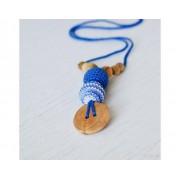 KANGAROO CARE KANGAROOCARE Collier d'allaitement et de portage Shades of blue Genévrier