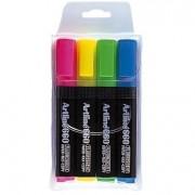 Textmarker ARTLINE 660, varf tesit 1.0-4.0mm, 4 culori/set