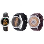 Combo of Jack Klein Stylish Round Dial Analog Wrist Watches GRP1208 G03 G04