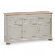 Oak Furnitureland Natural Oak and Painted Sideboards - Large Sideboard - Brindle Range - Oak Furnitureland