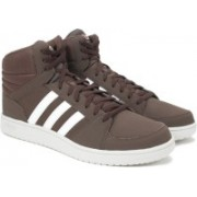 ADIDAS NEO VS HOOPS MID Mid Ankle Sneakers For Men(Brown)