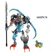 Generic Bionicle Mask Maker vs. Skull Grinder Biochemical Warrior Building Block Set Robot Model Bricks Compatible with 70795 Kids Toys 710-1