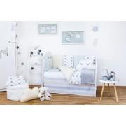 Set de pat pentru bebelusi Smile 10 piese + perna norisor cadou