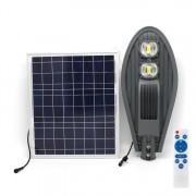Lampa LED 100W iluminat stradal cu panou solar si telecomanda