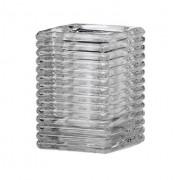 Vierkant ribbelglas voor refills (transparant)