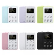 AIEK C6 Ultra Thin Mini Bluetooth GSM Candy Color Credit Card Mobile Phone