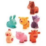 DJECO Zestaw 7 sztuk zwierzęta na wsi , figurki gumowe TROPO-FARM DJ09116