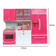 Aksh enterprise Toyz Modern Kitchen Play Set With Refrigerator Cook Top And Drawer Almirah