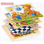 Vytung Goki Layers Jigsaw Puzzles for Girls Boys Toddlers Teens Adults Kids Babies Wood Jigsaw Puzzle Pieces(a little bear's day