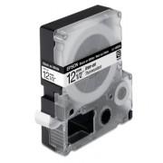 Cinta Epson LC-4WBQ5 de 12mm negro sobre blanco p/tela