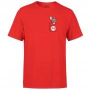 Nintendo Super Mario Mario Pocket Heren T-shirt - Rood - M - Rood