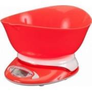 Cantar Papaya Cookware electronic de bucatarie cu bol sunrise 5kg Rosu