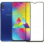 Película de vidro temperado 5D preta para Samsung Galaxy M20