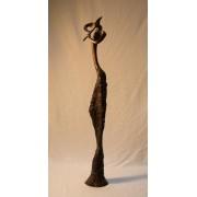 Furulyázó bronz szobor / egyedi /
