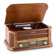 Auna Belle Epoque 1908 Equipo estéreo retro DAB Tocadiscos DAB+ Bluetooth (RM1-Belle Epoque DAB)