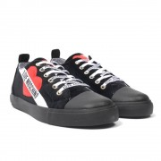 Love Moschino velours logo sneakers