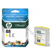 Мастило HP 88, Yellow, p/n C9388AE - Оригинален HP консуматив - касета с мастило