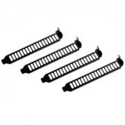 Set brackets PCI Silverstone AEROSLOTS, culoare neagra, SST-AEROSLOTS-BP