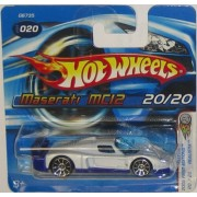 Hot Wheels 2005 020 First Editions Realistix Maserati Mc12 White 1:64 Scale Short Card