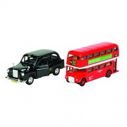 Goki London Bus Taxi From Injection Molded Toy Figure