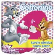 Hartie igienica alba parfumata 2 straturi Tom & Jerry 4 bucati/set Cottonino
