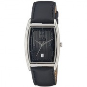 Titan Analog Black Tonneau Mens Watch-1640SL01