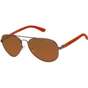 David Blake Brown Aviator Polarized UV Protected Sunglass