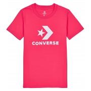 Converse růžové tričko Star Chevron Core s bílým logem