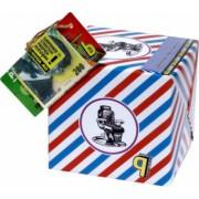Pusculita Noua Tipsul Frizerului cutie decorativa carton multicolor lucrata manual 12x12x12cm